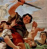 Detalj ur målning av Giovanni Battista Tiepolo - klicka för större bild & källa